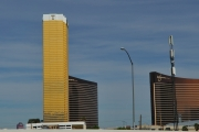 <p>Der gold schimmernde Trump Tower in Las Vegas</p>